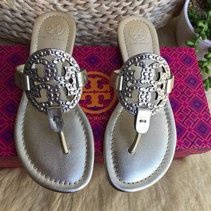 Tory Burch Shoes - TORY BURCH 🍁Miller Embellished Spark Gold Sz 6